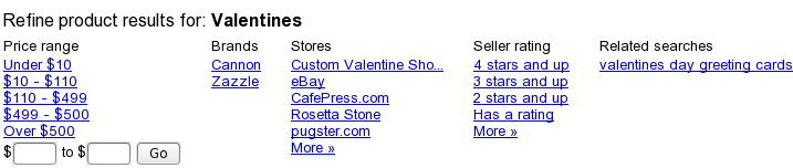 Refine Google Product Results for Valentine Negative Keyword Research