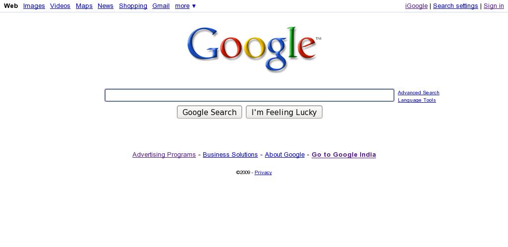 Google Bigger Home Page Search Box
