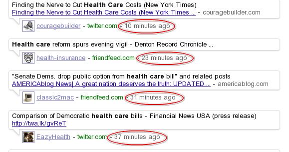 Google's updates when Twitter is down