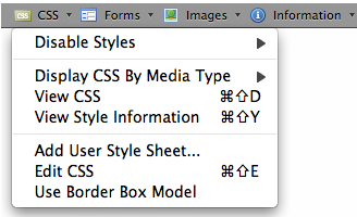 CSS Customization in Web developer Add-on for Firefox