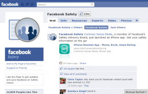 Facebook Safety Page