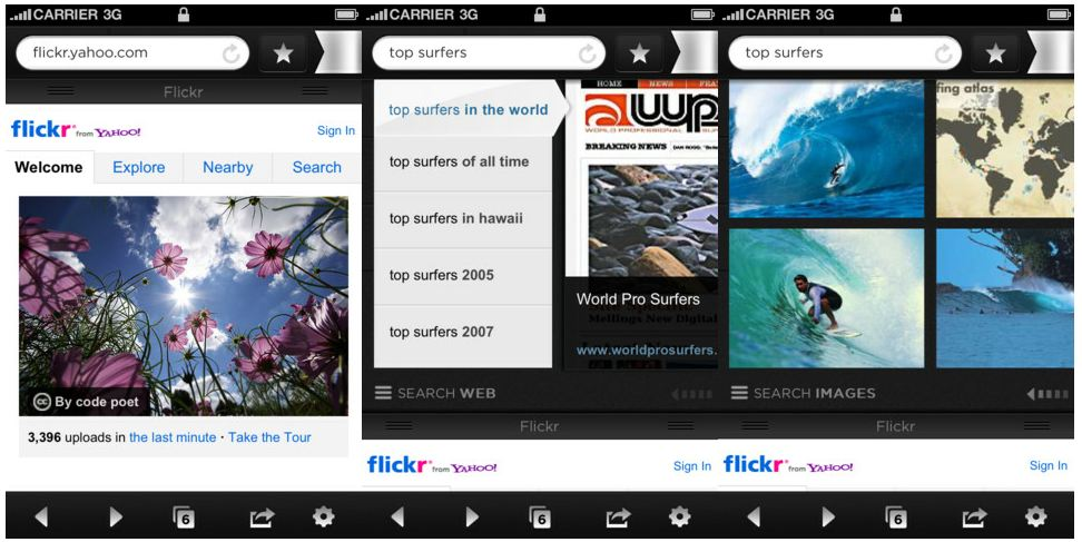 Axis Browser Visual Search Results